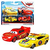 Disney Selección Doble Pack Cars | Modelos Vehículos 2020 | Cast 1:55 | Mattel, Cars Doppelpacks:Charlie Checker & Flash Mcqueen