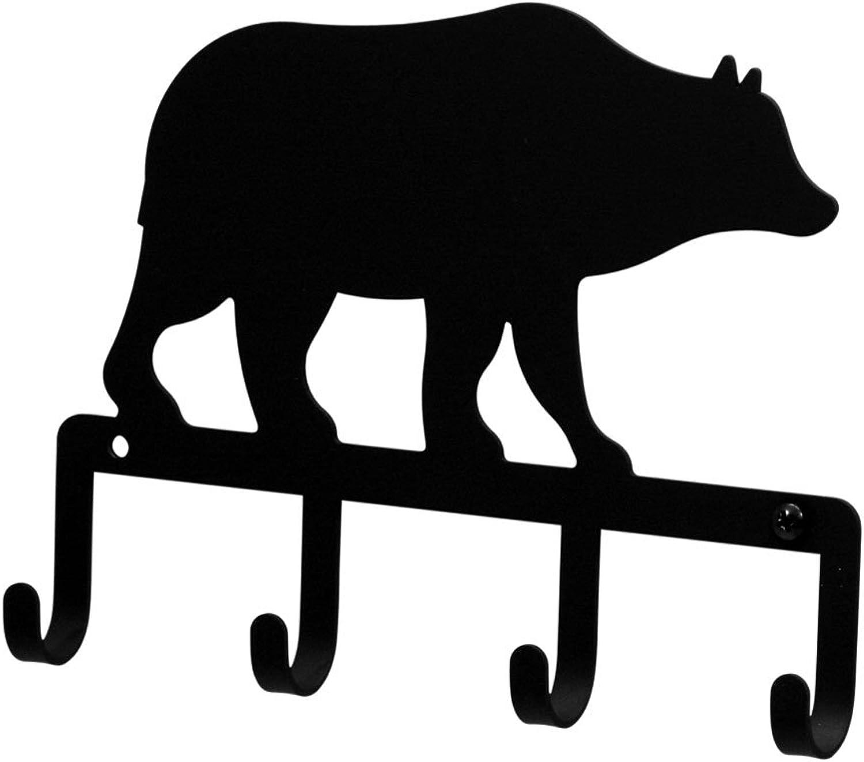 Iron Bear Key Rack - Black Metal