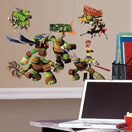 RoomMates Teenage Mutant Ninja Turtles Peel and Stick Wall Decals - RMK2246SCS,TMNT