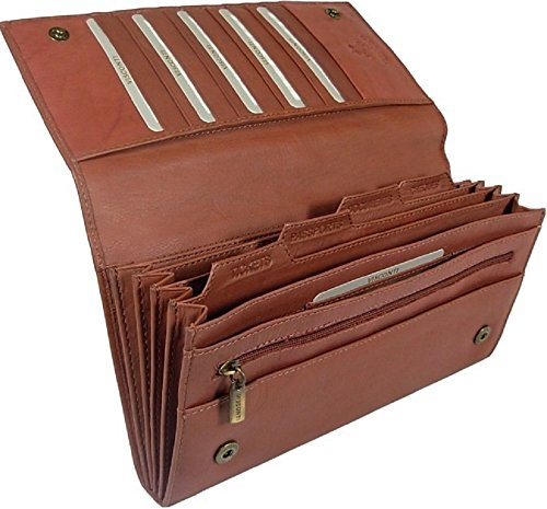 New large Visconti soft brown leather RFID anti fraud passport travel wallet organiser bag style 1179(Size: 23 X 12 X 3cm)