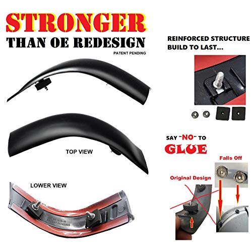 CF Advance Compatible with Ford 2008-2016 F-250 F-350 F-450 F-550 Super Duty Left Driver Side LH and Right Passenger Side RH Updraded Roof Corner Molding Trim Non Painted Set of 2PCS