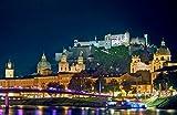 lunaprint Salzburg with Castle Hohensalzburg Austria Europe