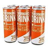 Runtime BCAA Drink für Energie & Konzentration, Koffein, Aminosäuren, 6x250ml Orange (Orange, 6 Dosen)