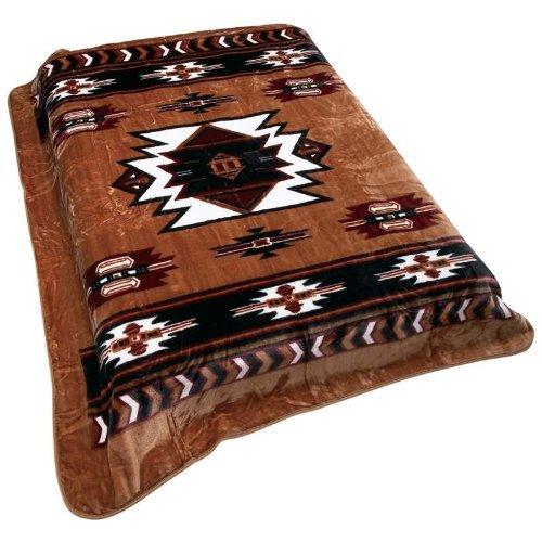 Wyndham House Southwest Native American Print Soft Blanket