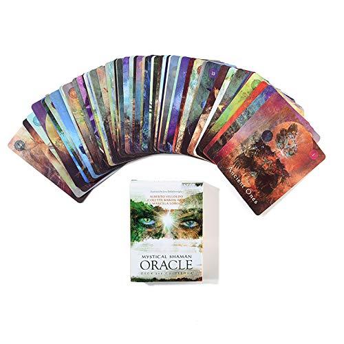 Table one Tarot Cards English, Feiertags-Familien-Party-Geschenk, Für Jugendliche Lustige Tischkarten-Spiele, Brettspiel, Wahrsagerei-Tarot(Color:C.)