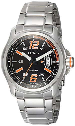 Citizen Men's Eco-Drive AW1350-59E Silver Stainless-Steel Quartz Watch
