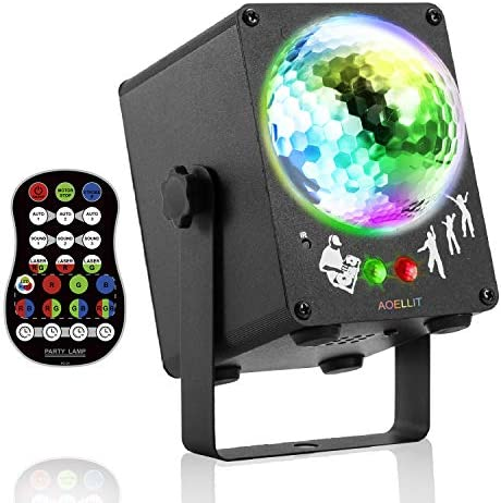 Party Disco Lights AOELLIT Disco Mirror Ball Light DJ Strobe Light Sound Activated RGB Led Stage product image