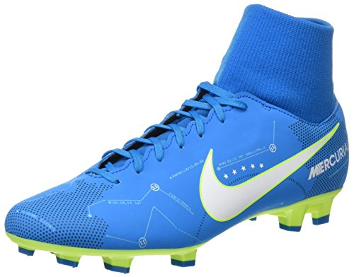 Nike Mercurial Victory VI DF NJR FG Mens Football Boots 921506 Soccer Cleats (UK 9 US 10 EU 44, Blue Orbit White 400)