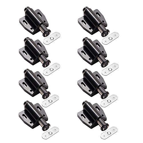 8 Stück Schrank Türmagnet Magnet Schnapper, Möbelmagnet Türverschluss, Magnetschnapper Moebel Druckverschluss,für Bücherschränken, Küchenschränken und Schränken