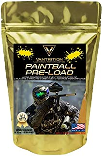 Vantrition Paintball Pre-Load, Sports Nutrition Pre-Workout Powder, Amino and Creatine Blend, Very Berry, Non-Caffeinated, Sustained Energy and Focus, 1 Pound