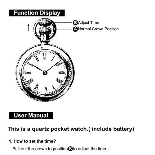 『コスプレFairy Tail Natsu Dragneel Design Quartz Pocket Watch Mens Boys』の2枚目の画像