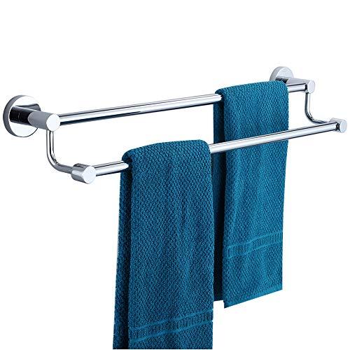 ENJYHZQY Barthroom Towel Bar Towel Holder Stainless Steel,Double Bar (Chrome, 20inch)