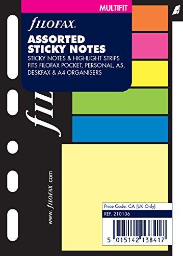 Filofax 210136 Pocket Haftnotizen, farbig sortiert