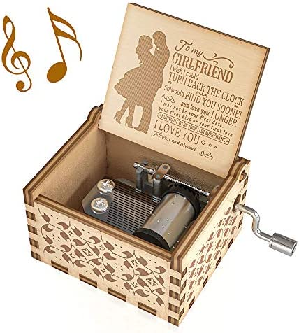 Ucuber You are My Sunshine Music Box Love Engraved Vintage Music Box Best Gift for Girlfriend product image