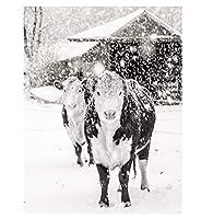 写真アートの壁の装飾-自然の風景動物の頭の肖像画写真アート画像キャンバスポスターHDプリントリビングルームの装飾モダンな絵画壁アートワーク-フレームなし,Dairy cow,40*60cm
