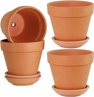 6 clay pots
