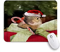NIESIKKLAマウスパッド クリスマスリスかわいいキャンディー杖 ゲーミング オフィス最適 高級感 おしゃれ 防水 耐久性が良い 滑り止めゴム底 ゲーミングなど適用 用ノートブックコンピュータマウスマット