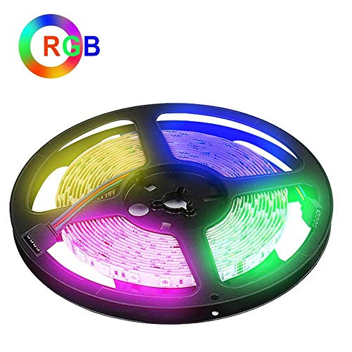 HVTKL 5 m (16,4 voet) 24 V 14,4 W per meter RGB LED strip voor keukenkast thuis achtergrondverlichting TV LED kabelverlichting 300 LEDs SMD5050 3 jaar garantie (zonder adapter d