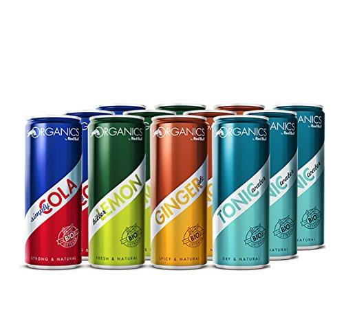Organics Red Bull, 12er Pack (12 x 250 ml), bio (Cola,Bitter Lemon,Ginger Ale,Tonic Water)