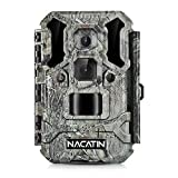 NACATIN Trail Camera 30MP 1080p IP67 Waterproof Wildlife Scouting Hunting Camera with Ultra Fast Trigger Speed and Recovery Rate HD Long Range IR Night Vision 2.4' LCD