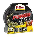 Pattex Power Tape, cinta multiusos resistente, fuerte, corte fácil, negro, 10 m