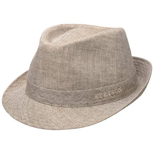 Stetson Osceola Trilby in Lino Donna/Uomo - Made Italy Cappello Estivo da Uomo con Fodera Primavera/Estate - 59 cm Beige Chiaro