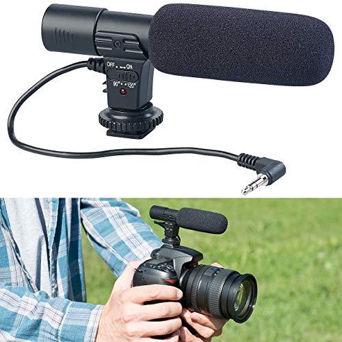 Somikon Kamera Mikrofon: Externes Mikrofon für Kameras & Camcorder mit 3,5-mm-Klinkenanschluss (Richtmikrofon)