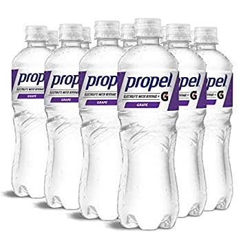 Propel Grape Zero Calorie Water Beverage with Electrolytes & Vitamins C&E 24 Fl Oz  Pack of 12
