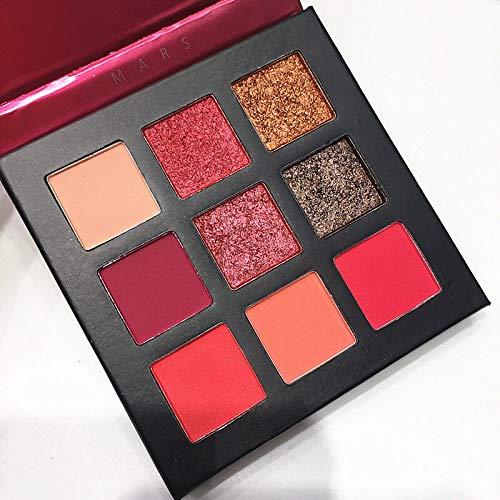 9 Couleur Jaune Beauté Glacé Maquillage Fard À Paupières Pallete Maquillage Brosses Shimmer Pigmenté Palette Ombres À Paupières Make Up Palette (Color : A)