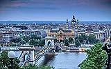 AFHK Rompecabezas 1000 Piezas de Rompecabezas de Madera Rompecabezas y Rompecabezas Accesorios de Rompecabezas DIY El Arte de Rompecabezas de Madera del Paisaje de la Ciudad polaca de Xixi l Pone ju