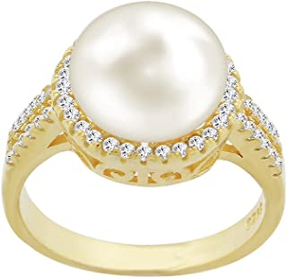Evan Jewels, EV5-5014 Cultured Freshwater Pearl Ring in Sterling Silver