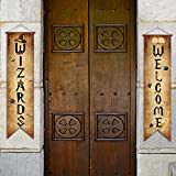 Wizards Porch Signs Magical Wizard Banner Wizards Door Sign Sets Hanging banner Decorations Wizard Party Decoration Door Yard Party Wizard Staff Wizard Party Decorations Door Decors Backdrop