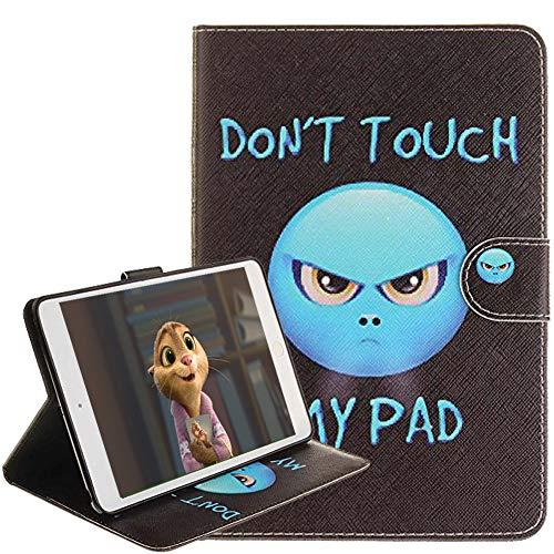 iPad Mini Hülle, iPad Mini 2 / Mini 3 Hülle [mit Kostenlosen Kopfhörer] Farbe Alle Arten von Cartoon-Muster PU Leder Flip Brieftasche Schlank Ständer Schutzhülle für Apple Mini 1/ Mini 2/Mini 3 (Zorn)