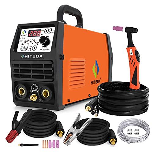 HITBOX Saldatrice Tig Pulse Saldatrice digitale 200A 220V con torcia di saldatura,...