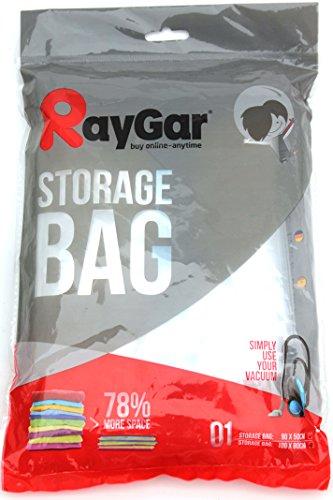 RayGar® - Bolsa de Almacenamiento Comprimido al Vacío para Ahorro de Espacio, 6 Unidades de 100 X...