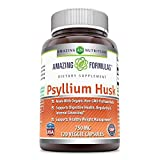 Amazing Formulas Psyllium Husk - 750mg,120 Veggie Capsules (Non-GMO,Gluten Free) -Made with Organic Psyllium Husk - Supports Digestive Health (1)