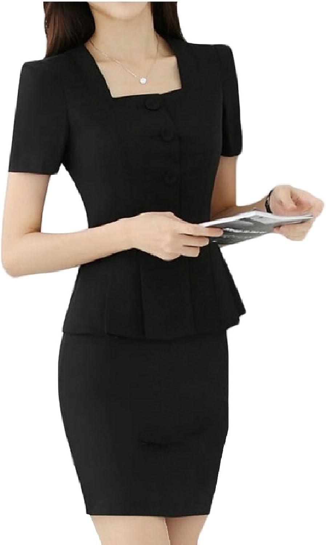 Jxfd Women Formal Office Business Blazer and Skirt Suit Set
