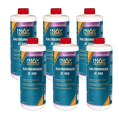 INOX® IX 300 Nettoyant à Froid pour Moteur, Nettoyant concentré Contre Les huiles, Le Goudron et Les Graisses - 6 x 1L