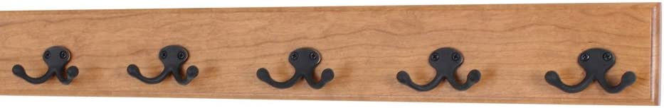 Max 46% OFF PegandRail Solid Cherry low-pricing Wall Mounted Coat Bron Rubbed Rack - Oil