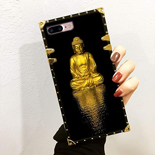 Apple iPhone 8 Plus (2017), iPhone 7 Plus (2016) (5.5-Inch) Gold Buddha Luxury Case