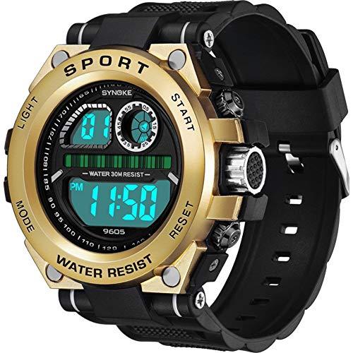 Poseca RéVeil wasserdichte Digitaluhr mit Multifunktionschronograph, Herren-Sportarmbanduhr mit ABS-Kunststoffgehäuse