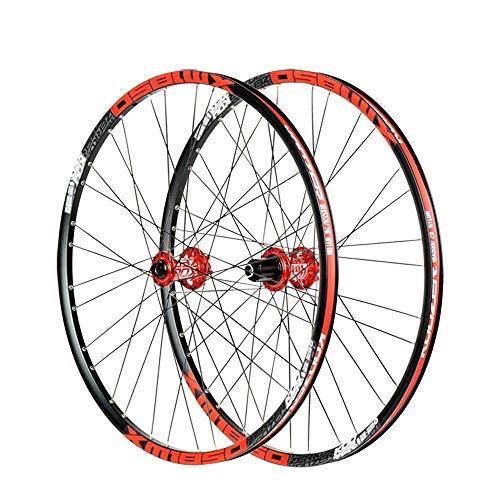 Bike Wheelset, 26/27.5 Inch Mountain Bike Wheels Disc Brake Ultralight Alloy MTB Rim Fast Release 32 Holes for Shimano Or Sram 8 9 10 11 Speed