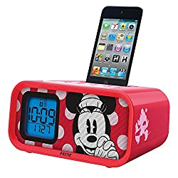 Ekids - Disney Minnie Mouse Dual Alarm Clock Speaker System With Ipod Dock Product Category: Ipod Accessories/Speaker Systems For Ipod