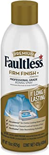 Faultless Starch Spray for Clothes – Premium Firm Finish (20oz 3 Pack) Professional Iron Spray Starch for Clothes & Fabric – No Stick Iron Spray, No Flaking or Clogging