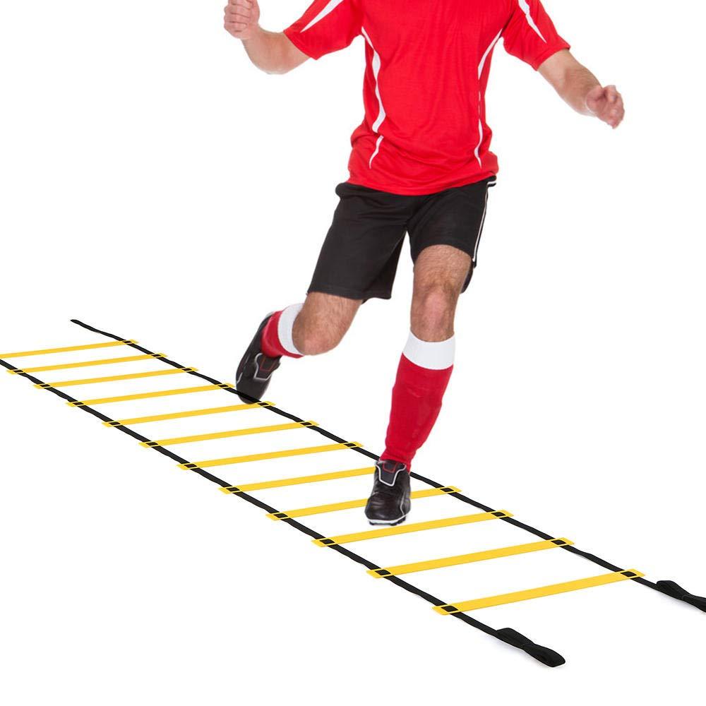 DIAMWAN Escalera de Agilidad Escalera de Agilidad de Velocidad de Carrera 4M-10M 8/12/20 con Bolsa de Transporte para Entrenamiento de fútbol, fútbol- 10M: Amazon.es: Deportes y aire libre