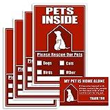 Safetpetz Fire Stickers Pets Emergency Pet...