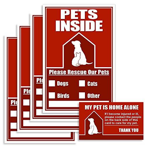 Pets Inside Emergency Sticker