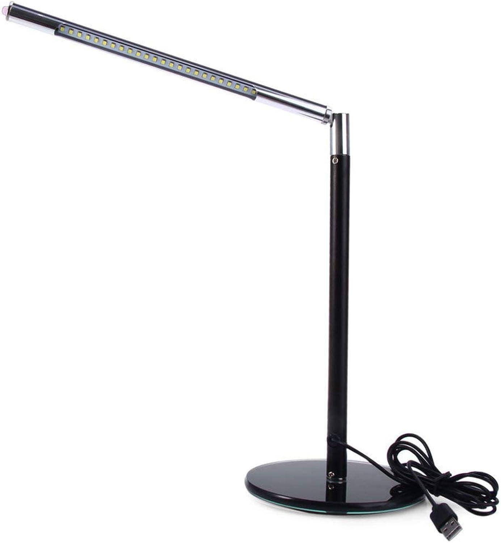 JYY LED Schreibtischlampe Augenschutz-Arbeitslesestudieren-Tisch-Kinderlampe,schwarz-5.5  11.8in