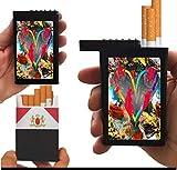 Flat Slide Top Cigarette Case Heart Of Colors
