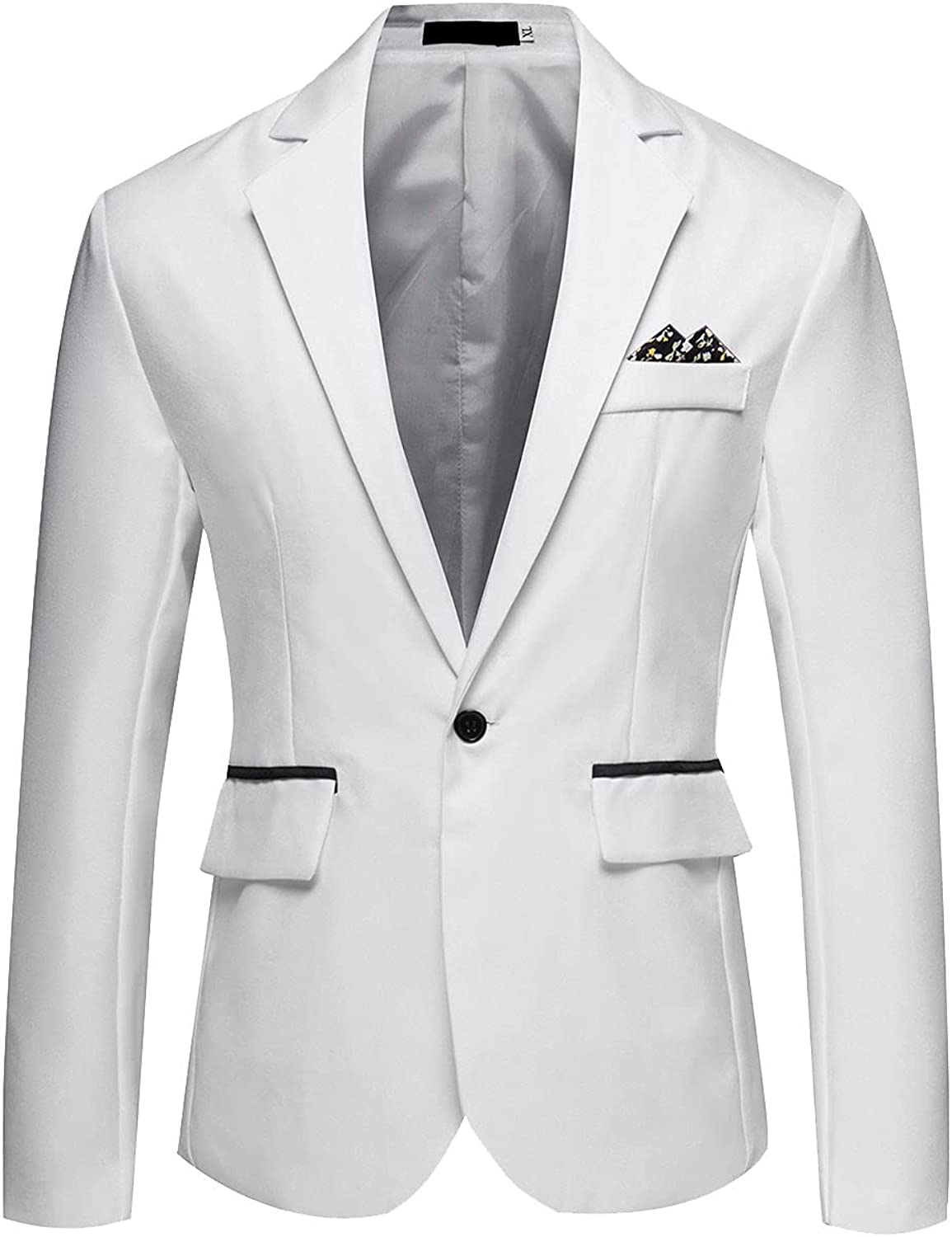 2021 Fashion Suit for Men's Blazer England Style Solid Slim Casual Single Breasted Youth Coat Jacket